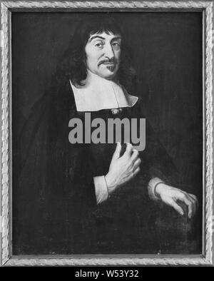After David Beck, René Descartes, 1596-1650, French philosopher, painting, oil on panel, Height, 83.5 cm (32.8 inches), Width, 66 cm (25.9 inches) - Stock Photo