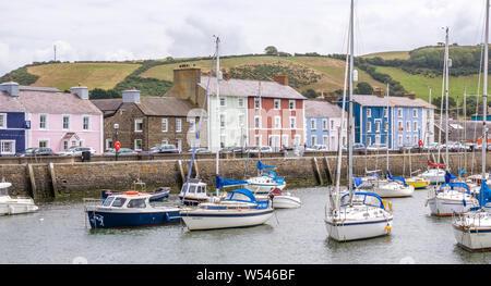 Aberaeron a popular seaside town in Ceredigion, Wales, UK