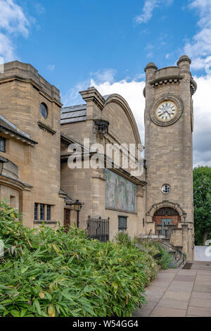 Horniman Museum near Forest Hill, was designed by architect Charles Harrison Townsend, opened in 1901. Horniman insisted the museum was freely open. - Stock Photo