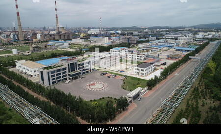 (190726) -- BEIJING, July 26, 2019 (Xinhua) -- Undated file photo shows the aerial view of Liaoning Oxiranchem, Inc. in Liaoyang, northeast China's Liaoning Province. (Oxiranchem/Handout via Xinhua) - Stock Photo