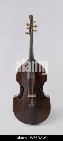 Two Bass Violins One With Its Case Bass Viola Da Gamba In Box