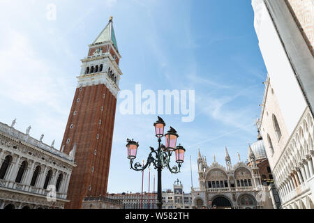 Low Angle View Of St Mark's Square At Venice, Italy