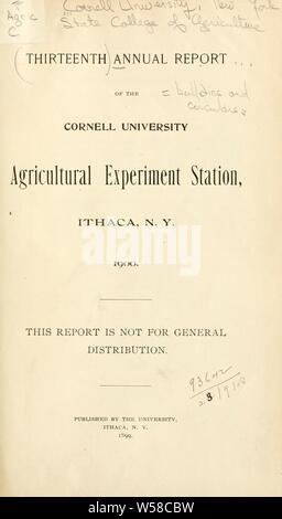 Annual report ... [bulletins and circulars] : Cornell University. New York State College of Agriculture - Stock Photo