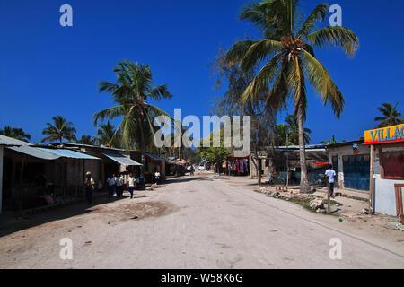 Street on Nungwi beach of Zanzibar, Tanzania