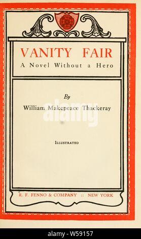 Vanity fair, a novel without a hero : Thackeray, William Makepeace, 1811-1863 - Stock Photo