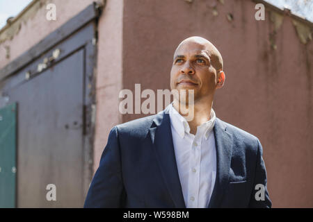 A portrait of Cory Booker, 2020 Democratic presidential candidate, April 2019.