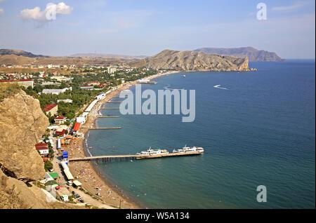 View in Sudak. Crimea. Ukraine - Stock Photo