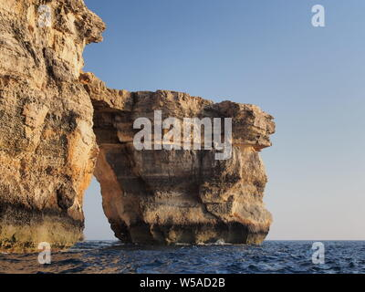 Azure Window,  Dwejra Bay, Gozo, Malta - Stock Photo