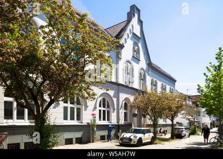music school Werden on the street Hufergasse in the district Werden, Essen, Ruhr Area, Germany.  Werdener Musikschule in der Hufergasse im Stadtteil W - Stock Photo