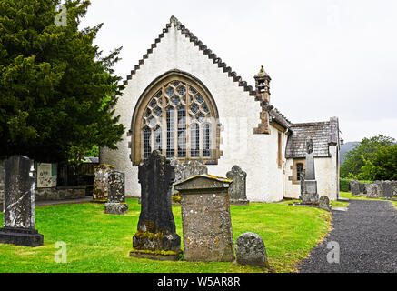 The Parish Church, Fortingall, Gern Lyon, Perth and Kinross, Scotland, United Kingdom, Europe. - Stock Photo