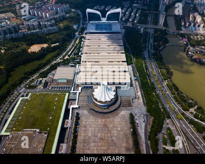 Guangxi International Convention and Exhibition Center in Nanning, capital city of Guangxi province of China - Stock Photo