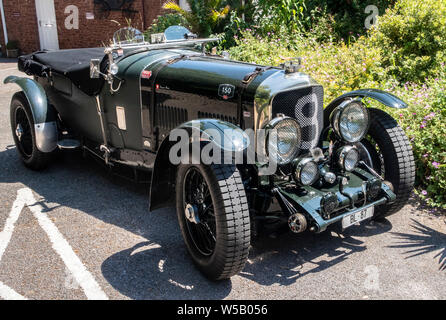 MK VI Bentley Speed 8 Le Mans, chassis powered by Rolls-Royce engine B80, 8 cylinders 5675 cc, 180 HP engine. - Stock Photo