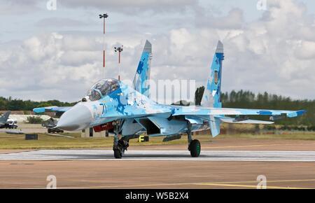Ukrainian Air Force Sukhoi Su-27 'Flanker' - Stock Photo