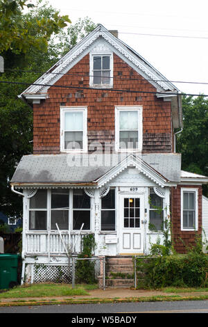 Historic Victorian homes and bed and breakfasts in Cape May, New Jersey, USA. - Stock Photo