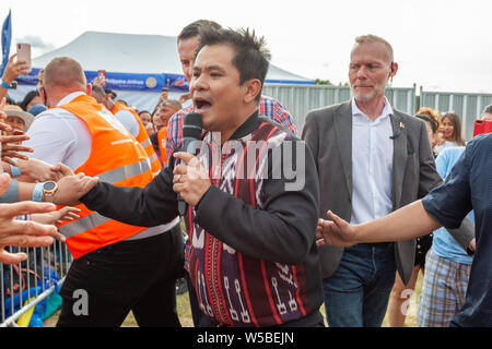Walton-on-Thames, Sunday 21st July, 2019. The Barrio Fiesta London is the UK & Europe's largest Filipino festival which is in it's 35th year. - Stock Photo