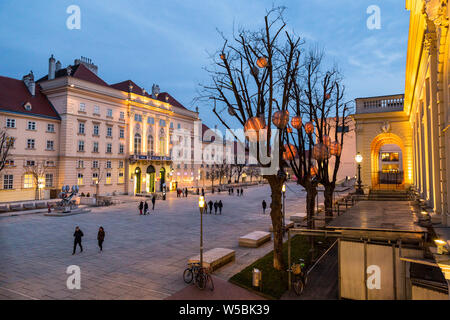 Interior view of the Museums Quartier.Museums Quartier is Vienna's largest museum complex, which focuses on 19th century to contemporary art in Vienna