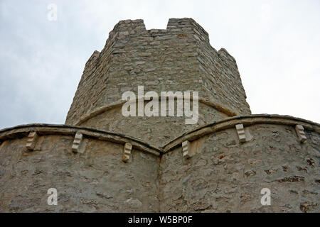 Church of St. Nicholas is a Pre-Romanesque style Roman Catholic church built in form of a fortress from the beginning of the 12th century, Nin, Croati - Stock Photo