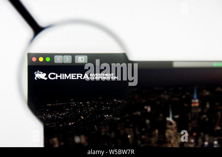 Richmond, Virginia, USA - 27 July 2019: Illustrative Editorial of Chimera Investment Corporation website homepage. Chimera Investment Corporation logo - Stock Photo