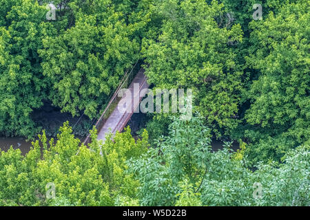 Forests surrounding Veliko Tarnovo, City of the Tsars, on the Yantra River, Bulgaria. It was the capital of the Second Bulgarian Kingdom - Stock Photo