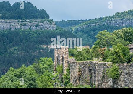 The medieval Tsarevets fortress, Veliko Tarnovo, Bulgaria. It was the capital of the Second Bulgarian Kingdom - Stock Photo