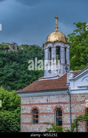 The old town of Veliko Tarnovo, City of the Tsars, on the Yantra River, Bulgaria. It was the capital of the Second Bulgarian Kingdom - Stock Photo