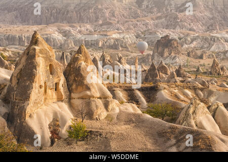 Landscape of the Red valley in Cappadocia, Turkey - Stock Photo