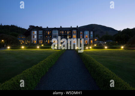 Inn On The Lake Glenridding Lake District Cumbria - Stock Photo