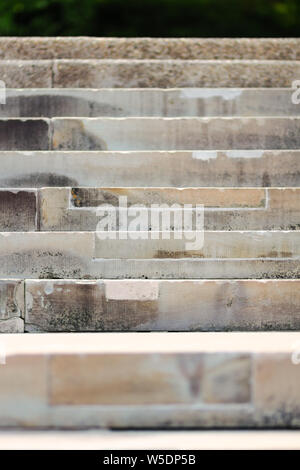 Stone steps create simple parallel lines. - Stock Photo