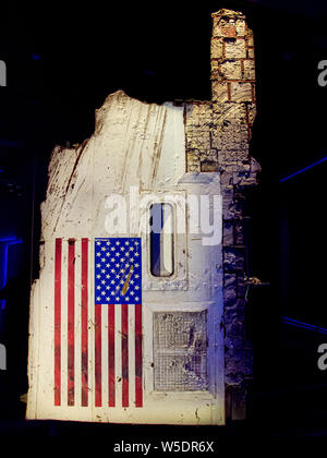TITUSVILLE, FLORIDA - AUG 22, 2018: Kennedy Space Center.  The remains of the Challenger shuttle on exhibit. - Stock Photo