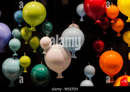 Balloons made from Murano Glass on Murano Island in Venice. - Stock Photo