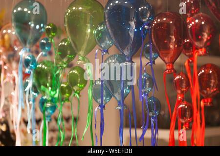 Balloons made from Murano Glass on Murano Island in Venice. - Stock Photo