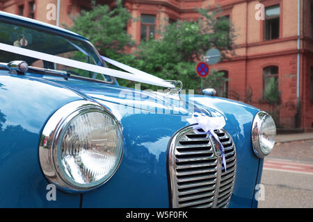 Austin A35 small saloon car from the 1950s at an English ...