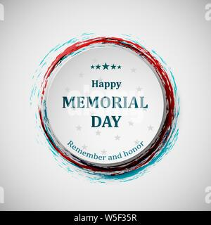 Happy memorial day. Memorial day badge concept. - Stock Photo