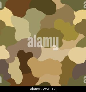 Seamless pattern. Abstract military or hunting camouflage background. Made from geometric square shapes. Vector illustration. - Stock Photo