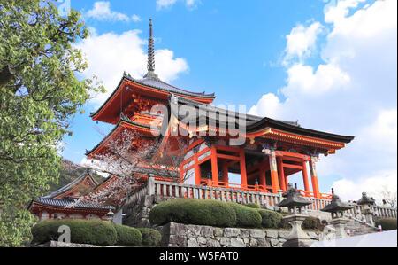 Kiyomizu-dera Temple (Clean Water Temple), spring time in Kyoto, Japan