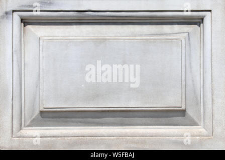 Old marble carved slab. Mock up template. Copy space for text