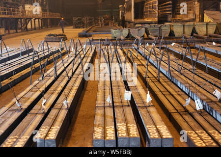 Warehouse metal blank. Electroplating plant for the metal. - Stock Photo