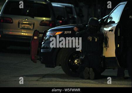 Gilroy, California, USA  July 28th, 2019  A San Jose Police