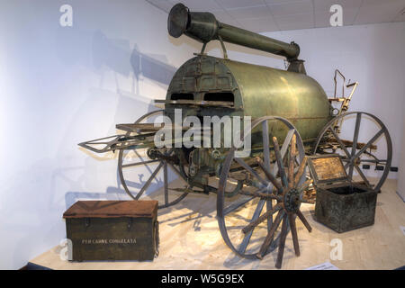 Italy, Lombardy, Camonica Valley, Temù, WWI Museum (the White War Museum), Weiss field oven (field bakery) - Stock Photo