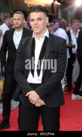 Photo Must Be Credited ©Alpha Press 078237 23/07/2019 Yungblud aka Dominic Richard Harrison at the Fast and Furious Hobbs and Shaw Special Screening held at The Curzon Mayfair in London - Stock Photo