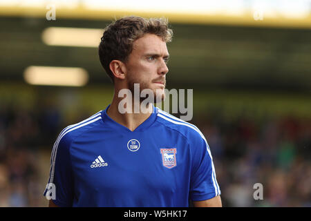 Emyr Huws of Ipswich Town - Cambridge United v Ipswich Town, Pre-Season Friendly, Abbey Stadium, Cambridge - 27th July 2019 - Stock Photo