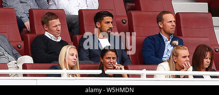 London, UK. 24th Sep, 2018. London, United Kingdom, JULY 28 Sami Khedira was spotted at the Emirates on Sunday for Arsenal's pre-season friendly during Emirates Cup Final between Arsenal and Lyon (Olympique Lyonnais )at Emirates stadium, London, England on 28 July 2019. Credit: Action Foto Sport/Alamy Live News - Stock Photo
