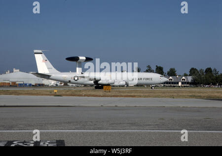 USAF United States Air Force Boeing E-3A Sentry - Stock Photo