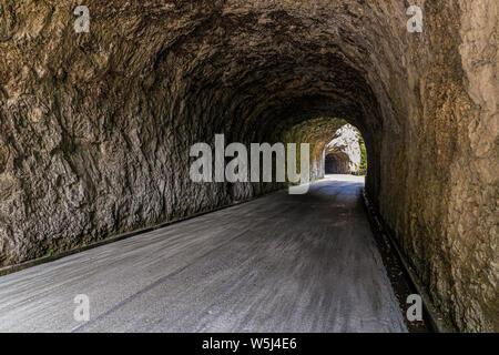 Italy Friuli Val Cellina Barcis - old road of the Valcellina - Natural park of Dolomiti Friulane