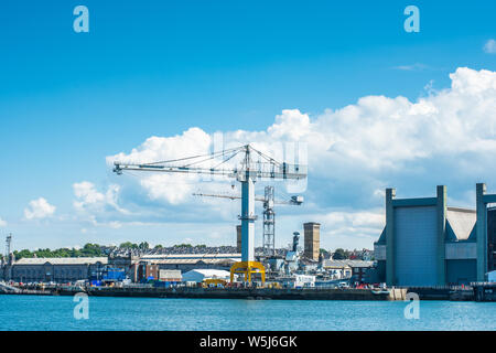 The Frigate Refit Complex at HMNB Devonport, Plymouth, Devon. UK. Stock Photo