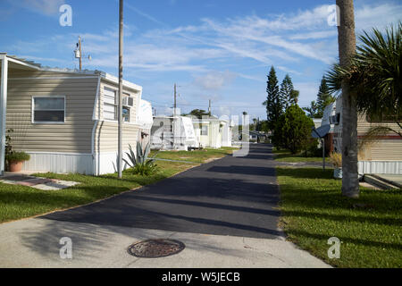 trailer park rv park homes in florida usa united states of america - Stock Photo