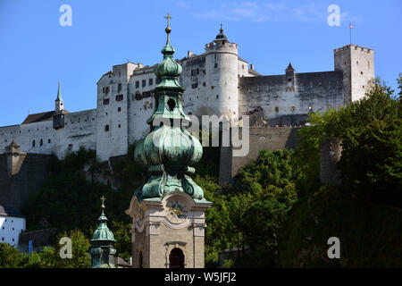Salzburg, Austria, Europe, UNESCO World Heritage Site - Stock Photo