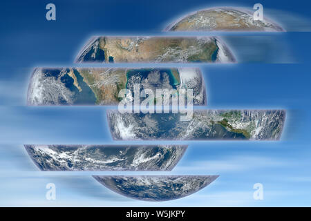 Rebuild the world - concept image with image from Nasa - Stock Photo