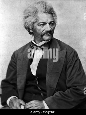 Frederick Douglass (1818-95), American Social Reformer, Abolitionist and Statesman, Half-Length Portrait, Photograph by George Francis Schreiber, 1870 - Stock Photo