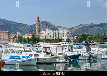 The old city of Trogir. This historic town is located in Dalmatia on the Adriatic coast close to Split. - Stock Photo